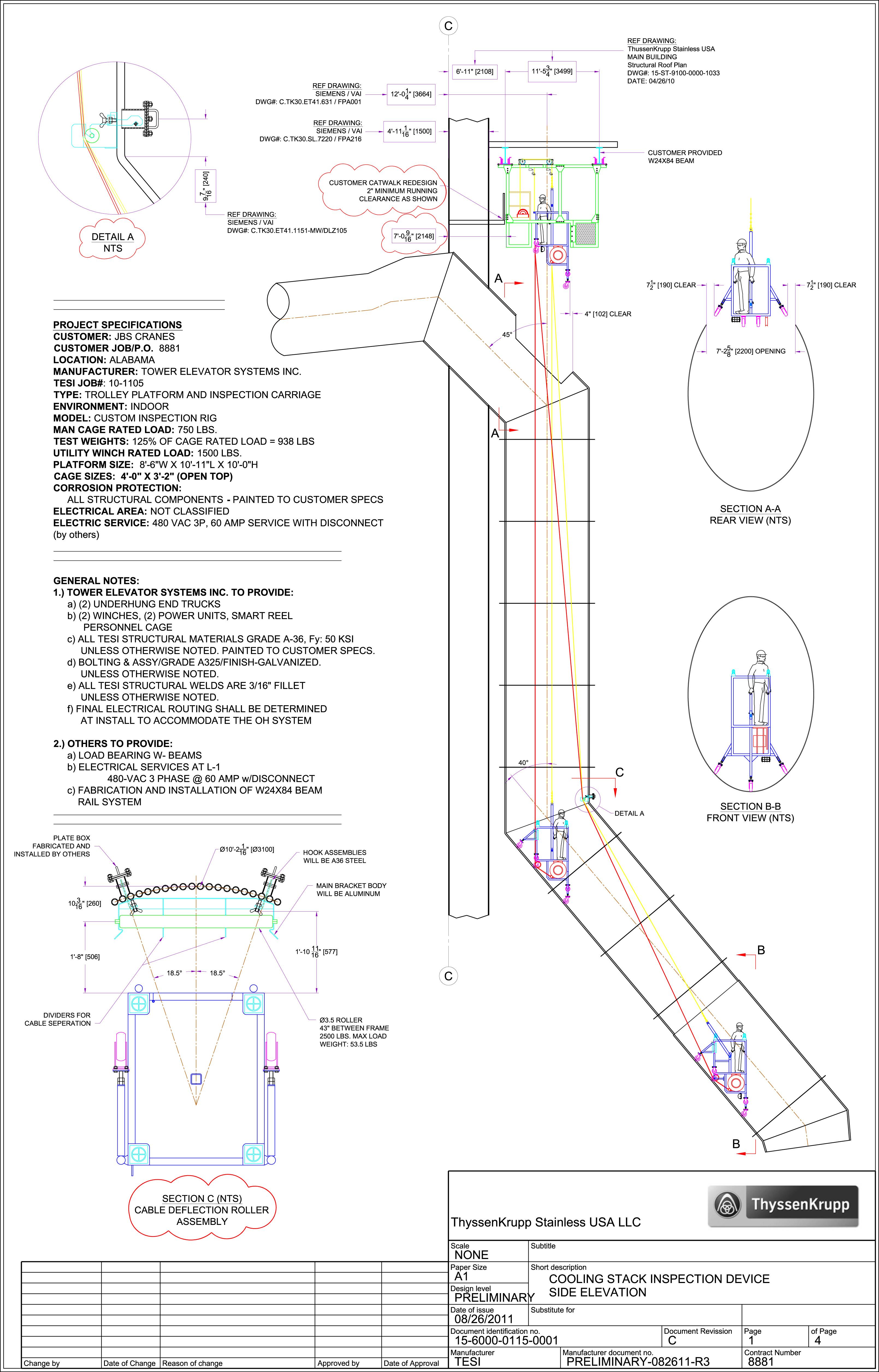 Elevators J B S Cranes